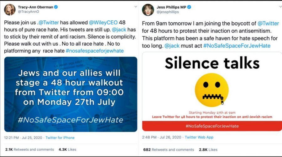 After+British+actress+Tracy-Ann+Oberman+called+for+a+48-hour+boycott+of+Twitter+to+protest+anti-Semitism+on+the+platform%2C+many+British+politicians+joined+in.+%28Twitter%29%C2%A0