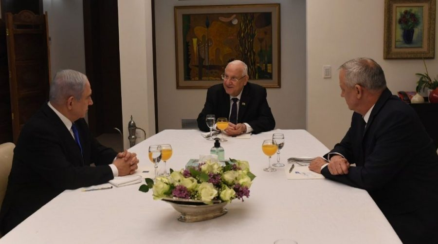 Netanyahu%2C+Rivlin+and+Gantz