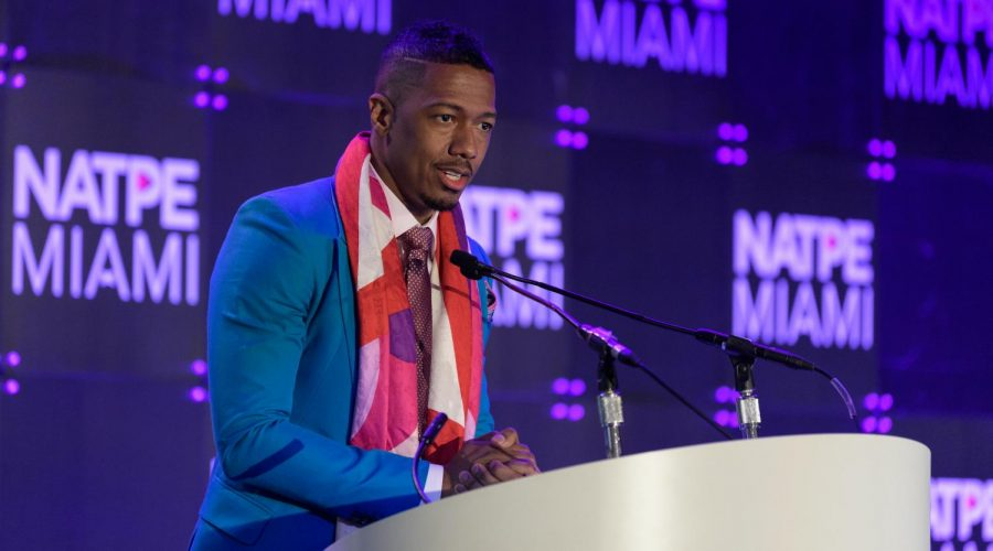 Nick+Cannon+speaks+on+stage+during+the+NATPE+Miami+2020+-+Iris+Awards+in+Miami+Beach%2C+Fla.%2C+Jan.+22%2C+2020.+%28Jason+Koerner%2FGetty+Images%29