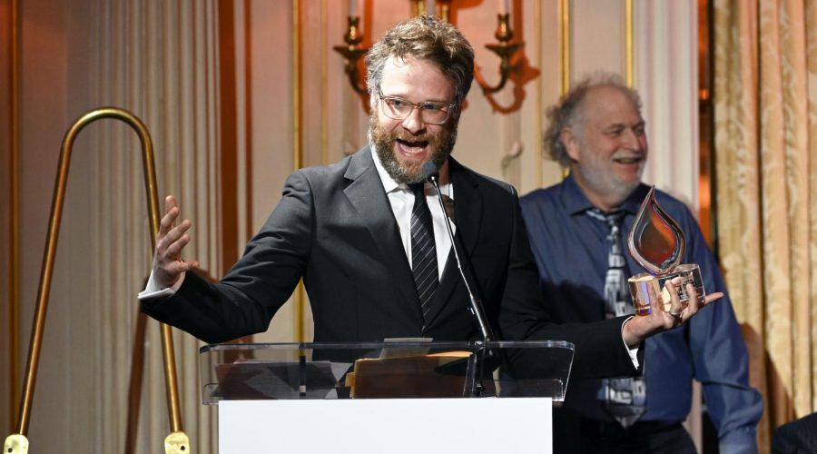 Seth+Rogen+speaks+onstage+at+The+Workers+Circle+2019+benefit+in+New+York+City%2C+where+he+was+honored%2C+Dec.+2%2C+2019.+%28Dia+Dipasupil%2FGetty+Images%29%C2%A0