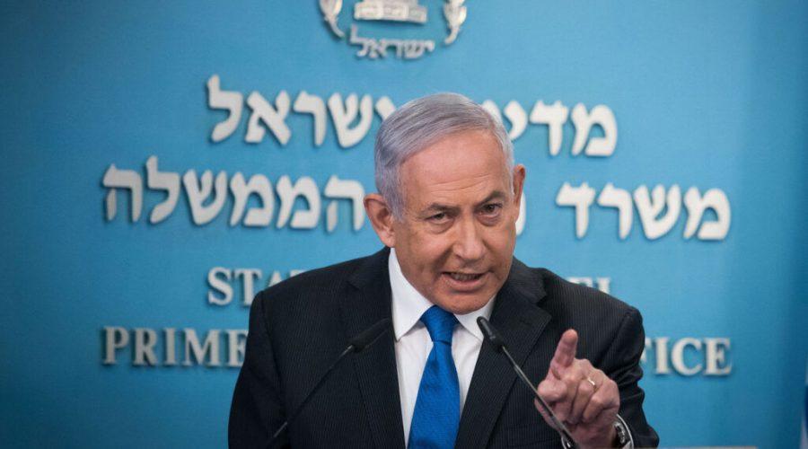 Israeli+Prime+Minister+Benjamin+Netanyahu+gives+a+press+statement+in+Jerusalem%2C+Aug.+13%2C+2020.