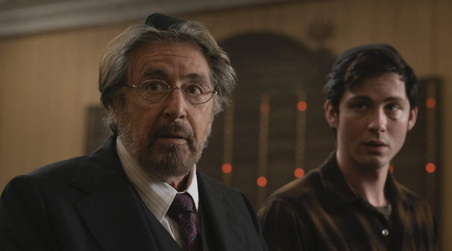 Al+Pacino%2C+left%2C+and+Logan+Lerman+are+Jews+out+for+revenge+in+Amazon+Studios%27+%22Hunters.%22+Photo%3A+Christopher+Saunders