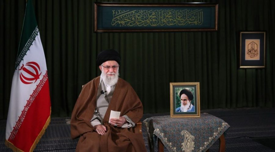 Iranian+Supreme+Leader+Ali+Khamenei+delivers+his+message+for+the+Iranian+New+Year%2C+or+Nowruz%2C+in+Tehran%2C+March+20%2C+2020.+%28Iranian+Supreme+Leader+Press+Office%2FHandout%2FAnadolu+Agency+via+Getty+Images%29