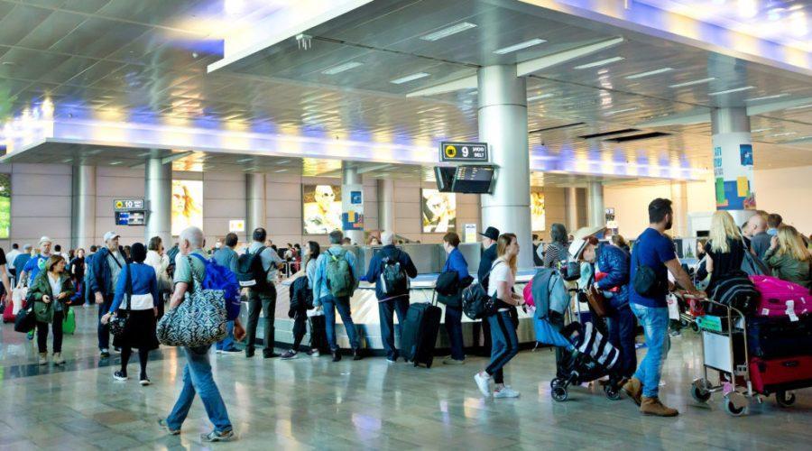 Travelers+at+Ben-Gurion+Airport+in+Tel+Aviv+in+2018.%C2%A0
