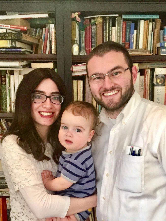 The Okin family: Rabbi Avi Okin with his wife, Devorah Tova, and their 1-year-old son, Binyomin. As of Sept. 1, Rabbi Okin will serve as Assistant Rabbi at Nusach Hari B'nai Zion.