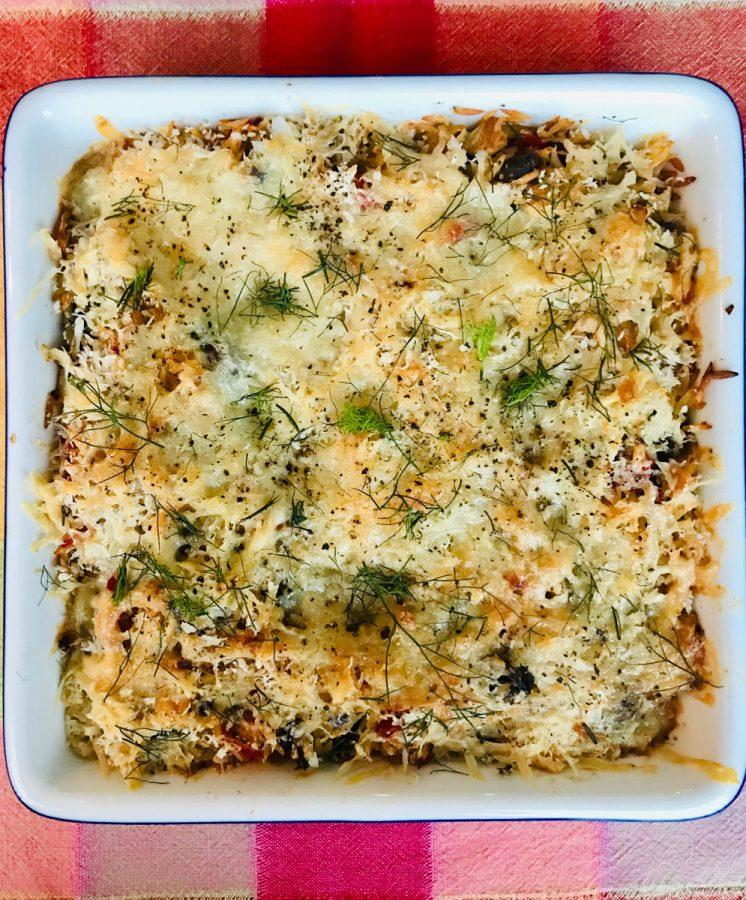 Orzo and Fennel Gratin