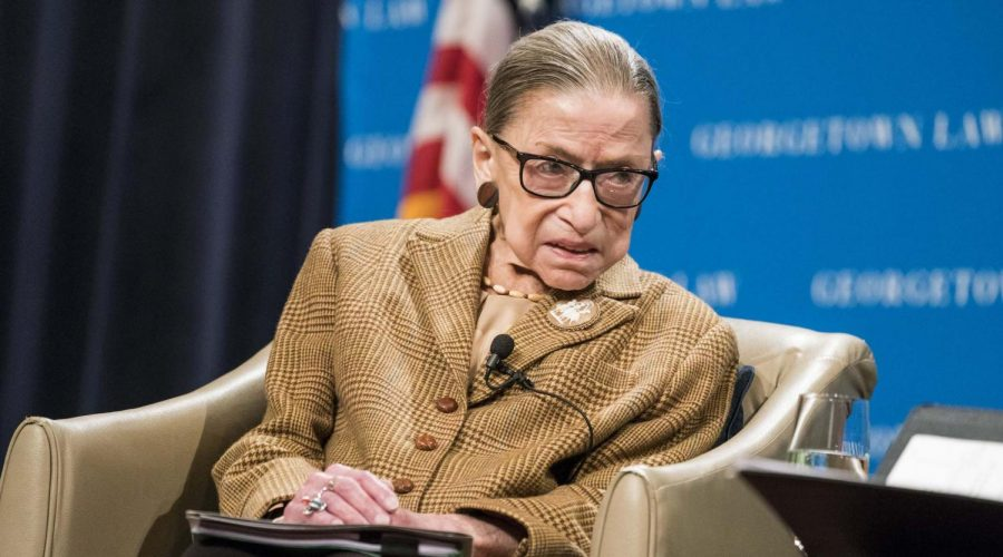 Supreme+Court+Justice+Ruth+Bader+Ginsburg+participates+in+a+discussion+at+the+Georgetown+University+Law+Center+in+Washington%2C+D.C.%2C+Feb.+10%2C+2020.+Photo%3A+Sarah+Silbiger%2FGetty+Images