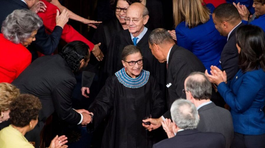Supreme+Court+Justice+Ruth+Bader+Ginsburg+arrives+for+President+Barack+Obama%27s+State+of+the+Union+address+in+the+Capitol%2C+Jan.+20%2C+2015.+%28Bill+Clark%2FCQ+Roll+Call%2FGetty+Images%29%C2%A0