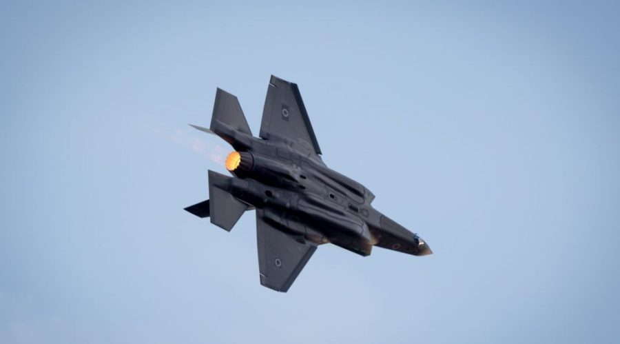 An+Israeli+Air+Force+F-35+fighter+jet+flies+during+an+aerial+show+at+the+Hatzerim+Air+Base+in+the+Negev+Desert%2C+Dec.+29%2C+2016.+%28Miriam+Alster%2FFlash90%29%C2%A0