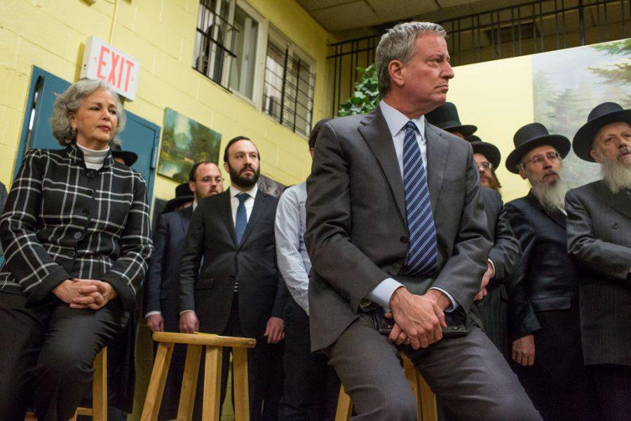 New York City Mayor de Blasio holds a press confrence denouncing hate crimes