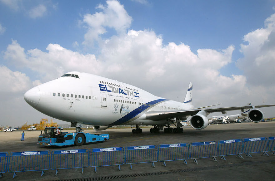 An El Al plane at Ben Gurion Airport near Tel Aviv (David Silverman/Getty Images)