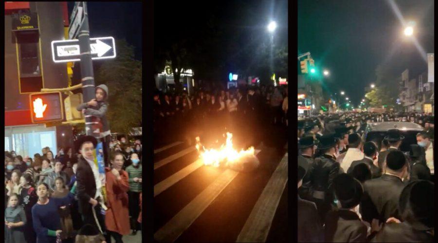Protest+in+Borough+Park
