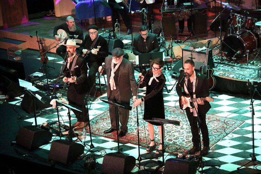 Brothers Lazaroff and a host of special guests including Rabbi James Stone Goodman perform at the ninth annual Hanukkah Hullabaloo on Saturday, Dec. 14, 2019 at the Grandel Theatre. Photo: Bill Motchan
