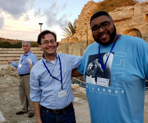 Rabbi Noah Arnow of Kol Rinah (at left)  and Pastor Carlos Smith of the Journey church are shown during their 2018 trip to Israel, which was focused on building connections between rabbis and African-American Christian clergy.