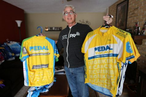 Mark Dana is an avid cyclist who frequently takes part in fundraising cycling events such as Pedal the Cause. Photo: Bill Motchan