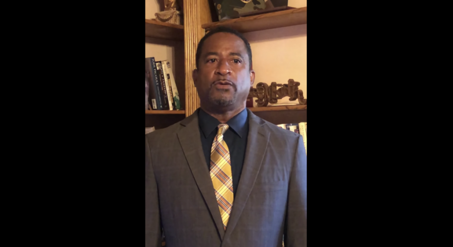 William Latson issued a public apology a week before the Palm Beach County School Board voted a second time to terminate his employment. (Screen shot from YouTube)
