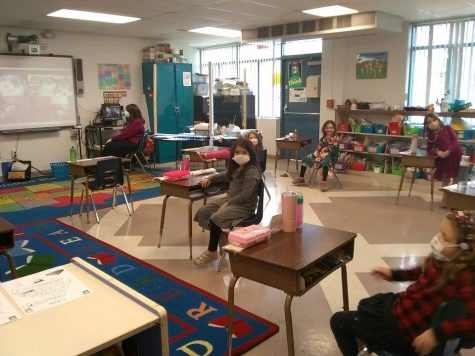 First-grade students attend class at Epstein Hebrew Academy.