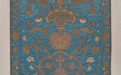 Simhah Viterbo, Italian, 1739–1779; Torah Ark Curtain (Parokhet), 1755; silk, silk and metallic thread, vellum, metal paillettes, cotton thread, velvet, metallic fringe, linen backing; 87 × 66 inches; Saint Louis Art Museum, The Deane and Paul Shatz Endowment Fund for Judaica 2:2019