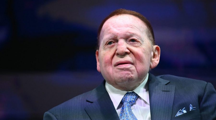 Sheldon Adelson listens to President Donald Trump address the Israeli American Council National Summit 2019 at the Diplomat Beach Resort in Hollywood, Fla., Dec. 7, 2019. (Mandel Ngan/AFP via Getty Images)