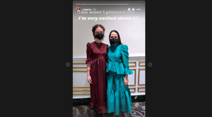 Ella Emhoff, left, with Kamala Harris' niece Meena Harris before the inauguration, Jan. 20, 2021. (Meena Harris/Instagram)