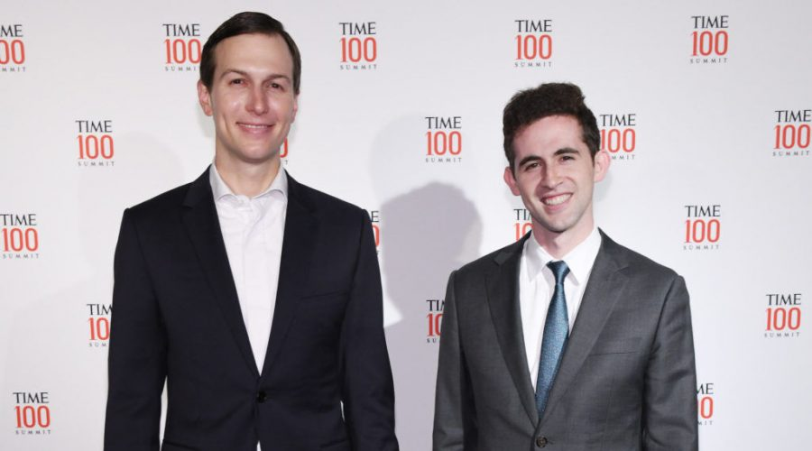 Jared Kushner, left, and Avi Berkowitz at the Time 100 Summit in New York City, April 23, 2019. (Craig Barritt/Getty Images for TIME)