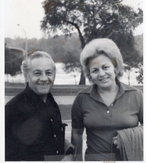Cammy's parents in Israel in the 1970s.