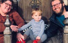 Rachel Bray-Spezia and James Spezia and their son, Wolfie.