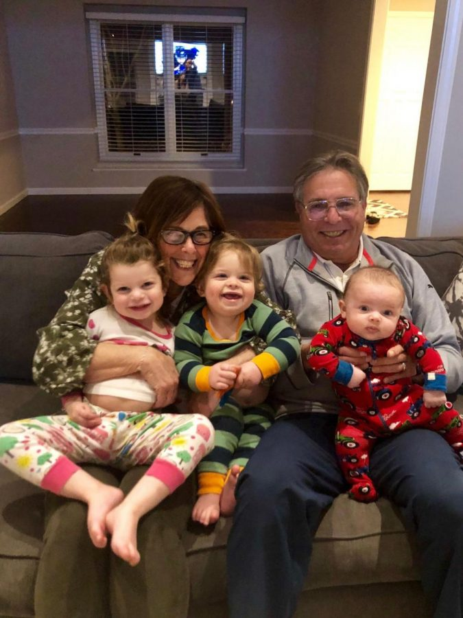 Before they got sick with COVID-19, Jane and MichaelWeinhausenjoyed time with their grandchildren, from left to right: Bryn and LeoWeinhausand Jackson Harvey.