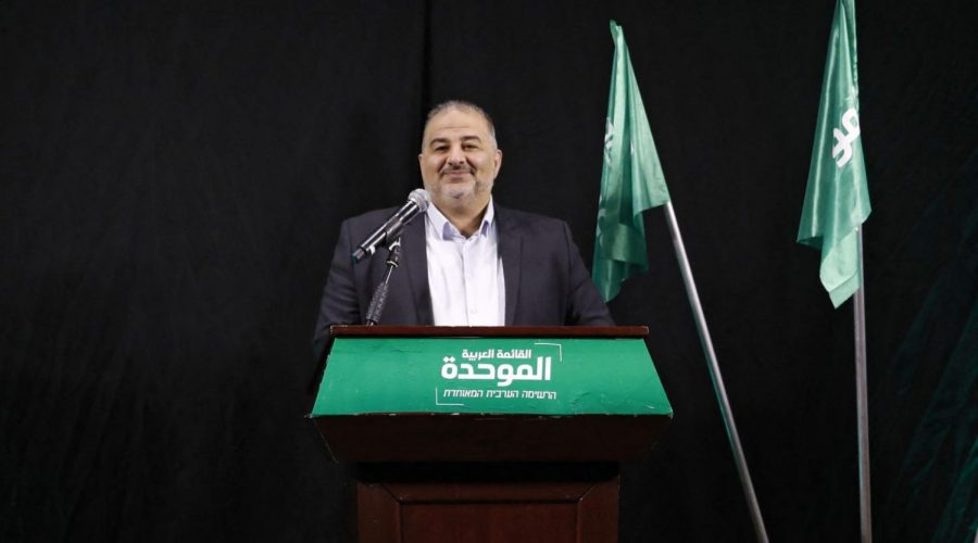 Mansour Abbas, head of Israel's Islamic Raam party, speaks during a press conference in the northern city of Nazareth, April 1, 2021. (Ahmad Gharabli/AFP via Getty Images)