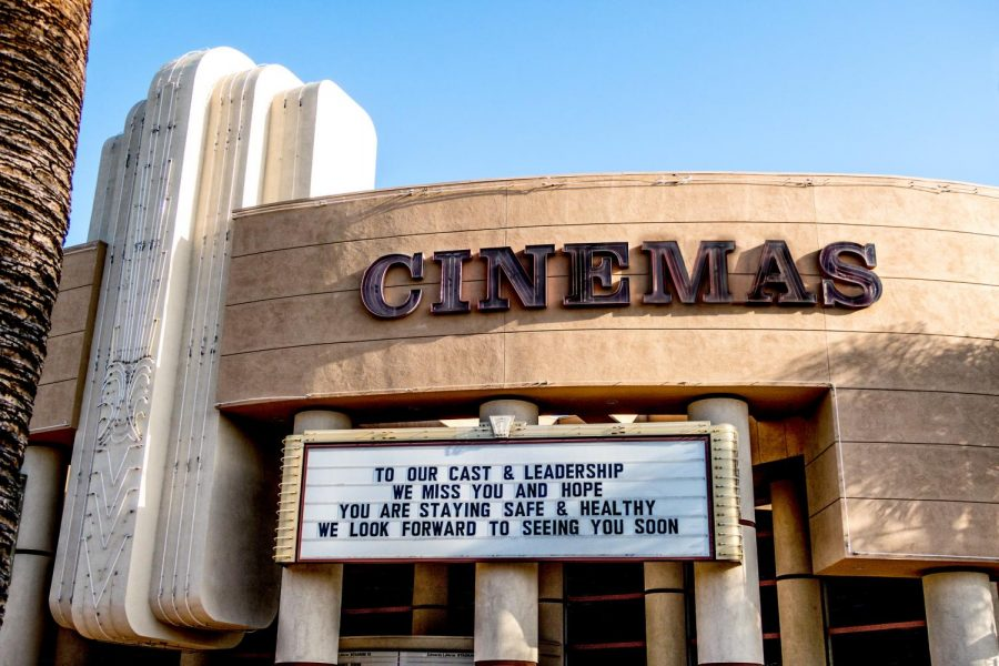 The Regal Edwards theater in La Verne, California, forced to close due to the COVID-19 pandemic, is seen in May 2020. (Russ Allison Loar/Flickr Commons)