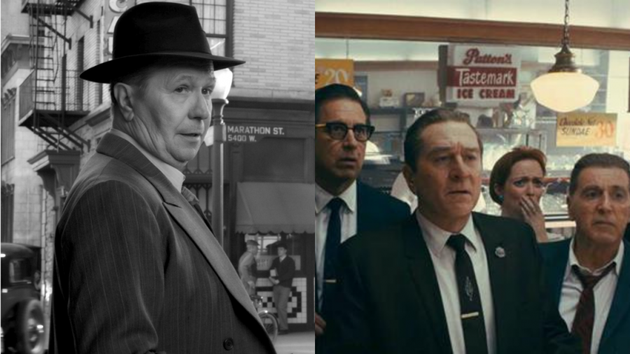 Images from 'Mank' and 'The Irishman.' Photos: Netflix