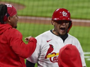 St. Louis Cardinals catcher Yadier Molina. Mandatory Credit: Jeff Curry-USA TODAY Sports