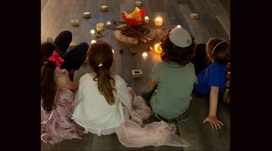 Students at Scheck Hillel Community School in south Florida celebrated Lag b'Omer while commemorating the tragedy in Meron, Israel. (Greg Feldman)
