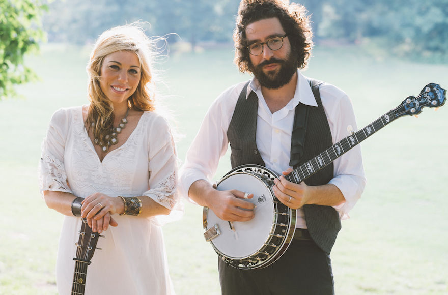 Doni Zasloff and Eric Lindberg combine Jewish lyrical themes with a pure bluegrass sound as the group Nefesh Mountain. (Courtesy BAM Photography)