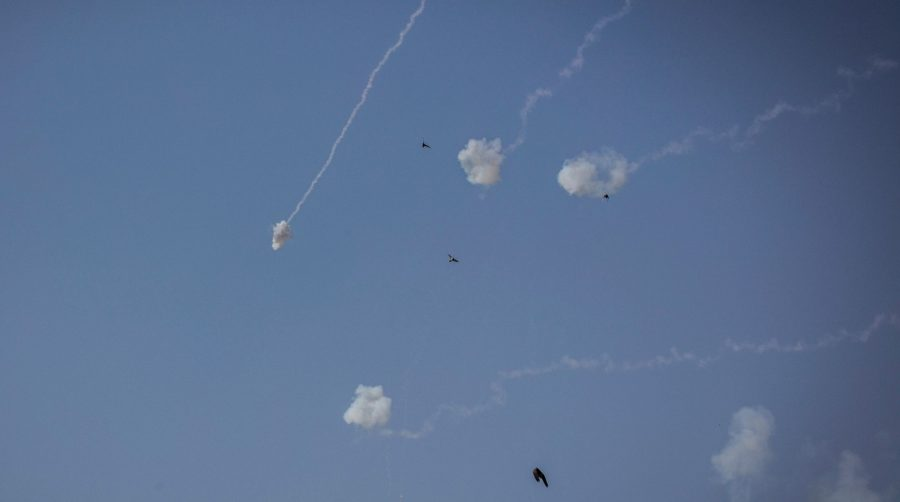 Israel intercepts a rocket from Gaza in 2019. Terror groups in Gaza have renewed their rocket fire in recent days in response to protests in Jerusalem and the West Bank. (Ilia Yefimovich/picture alliance via Getty Images)