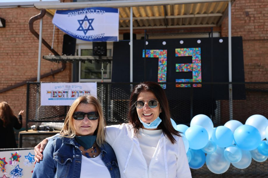 Epstein Hebrew Academy celebrated the completion of a Hebrew learning  project on Yom Ha'atzmaut, Israel Independence Day. Pictured are Hebrew language specialists Ariela Ish-Hurwitz and Orna Dar.