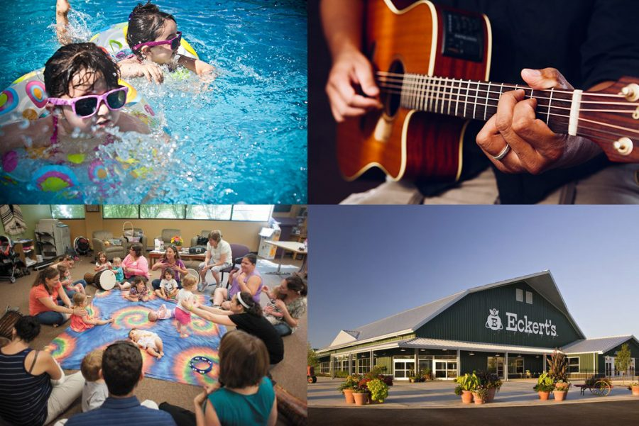Collage of May and June family events