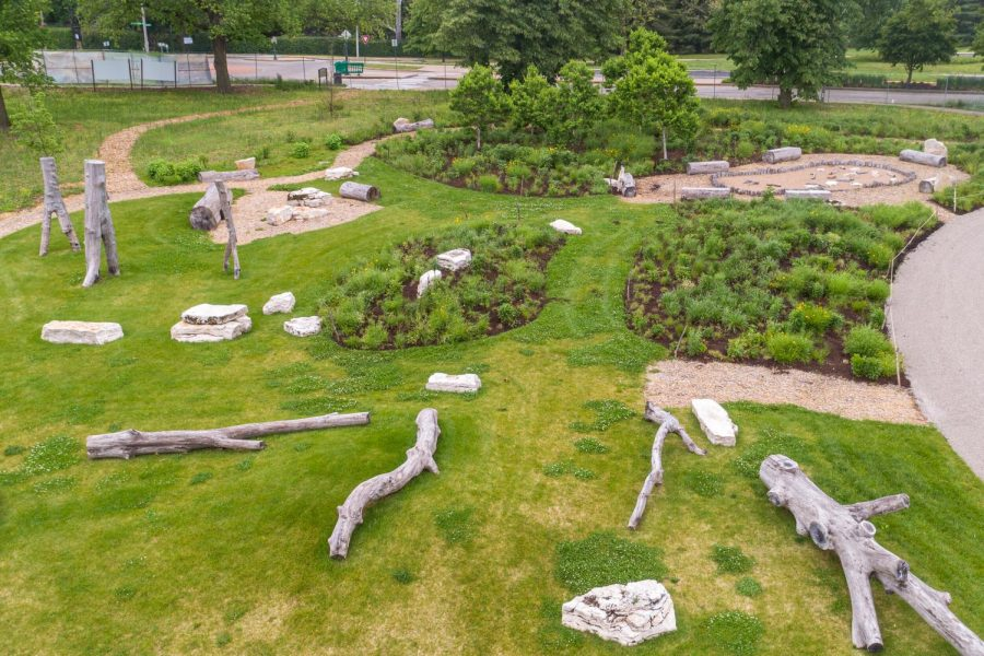 The Anne O'C. Albrecht Nature Playscape in Forest Park opens June 2. Photo: forestparkforever.org