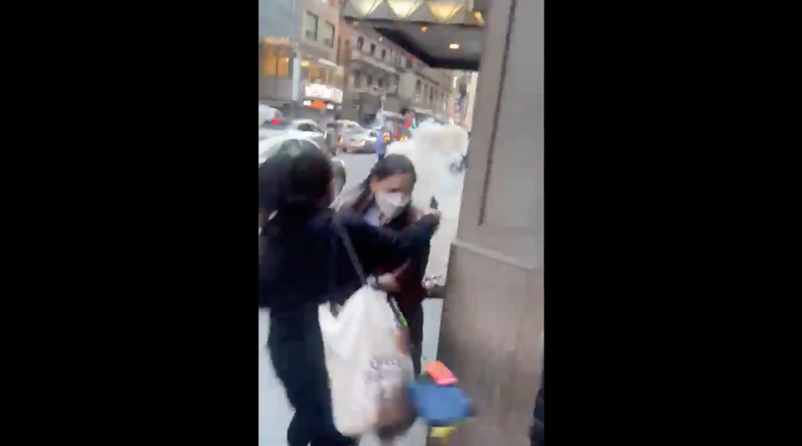 One person burned in NYC fight as protesters shout 'F–king Zionist'