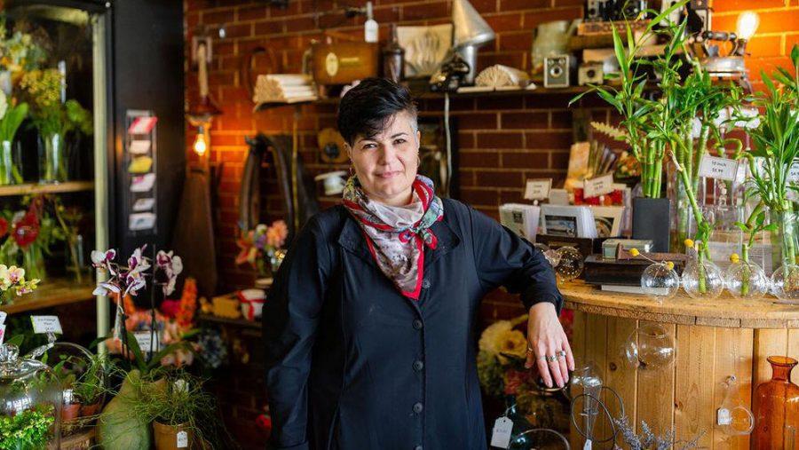 Elisheva Heit is the owner of Flamenco Flowers in the Delmar Loop.