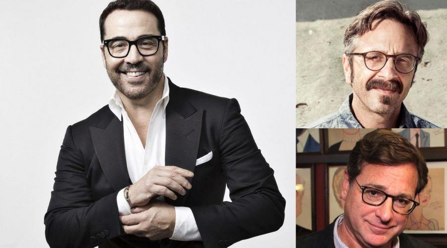 Clockwise from top left: Jeremy Piven, Marc Maron and Bob Saget. (Maron photo: Travis Shinn Photography; Saget photo: Behind The Velvet Rope TV/Wikimedia Commons)