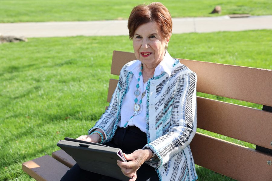 Fran Zellinger participates in a program funded by JCA Charitable Foundation targeted at St. Louis Jewish older adults.