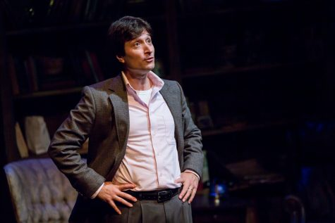 """Andrew Michael Neiman in the 2017 NJT production of """"Tuesdays with Morrie.' Photo: Eric Woolsey"""