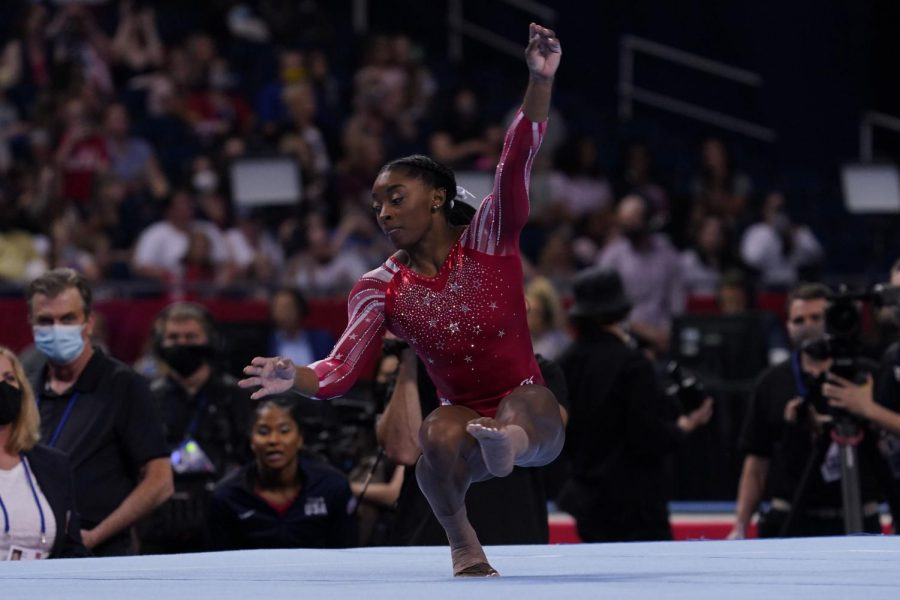 Simone Biles competes on the floor during the U.S. Olympic Team Trials - Gymnastics competition at The Dome at America's Center. (Grace Hollars-USA TODAY Sports)