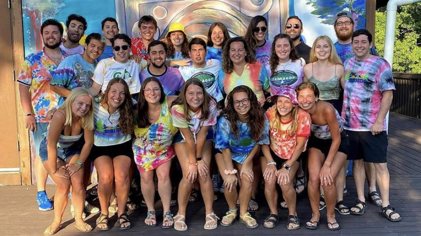 Staff of the Jewish Community Center's Camp Sabra at the Lake of the Ozarks.
