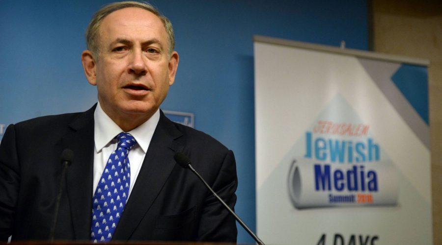 Israeli+Prime+Minister+Benjamin+Netanyahu+speaks+to+reporters+at+a+Jewish+Media+Summit+in+Jerusalem%2C+Dec.+6%2C+2016.+%28Jewish+Media+Summit%29%0A