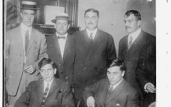 Photo shows Lefty Louie Rosenberg and Gyp the Blood Horowitz, who, with Whitey Lewis and Dago Frank Cirofici, were convicted of killing Herman Rosenthal, proprietor of an alleged gambling house in New York City.  Flikr Commons