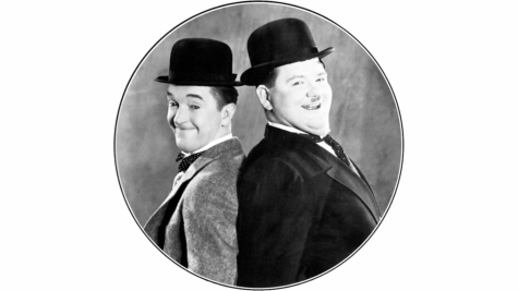 Publicity photo of Stan Laurel and Oliver Hardy.