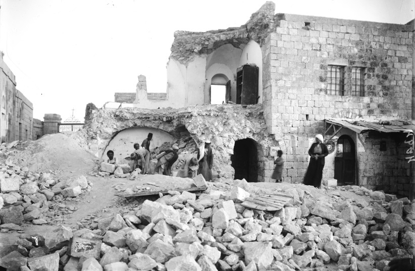JULY 11:  The 1927 earthquake caused extensive damage in cities such as Jericho, Jerusalem and Nablus.
