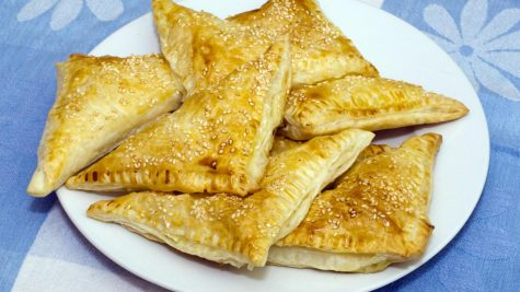 Jewish Recipes: Hand stretched phyllo borkas with spinach and kashkaval